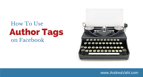 Author Tags on Facebook