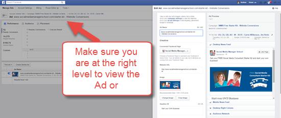 Edit Facebook Ad