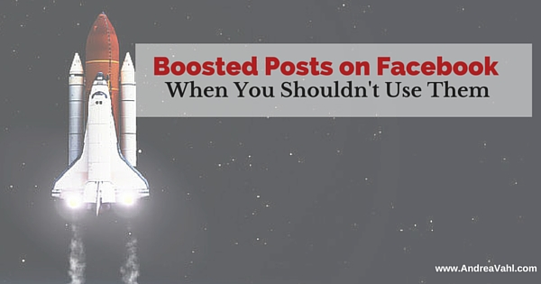 Boosted Posts on Facebook