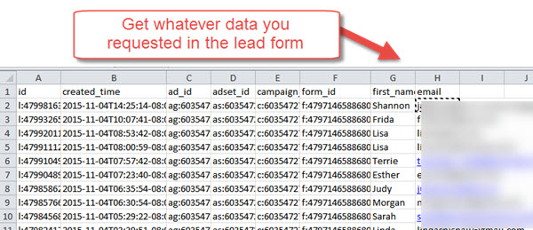 Lead data
