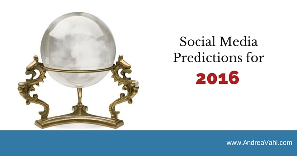 Social Media Predictions 2016