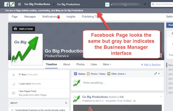 Facebook Page on Business Manager