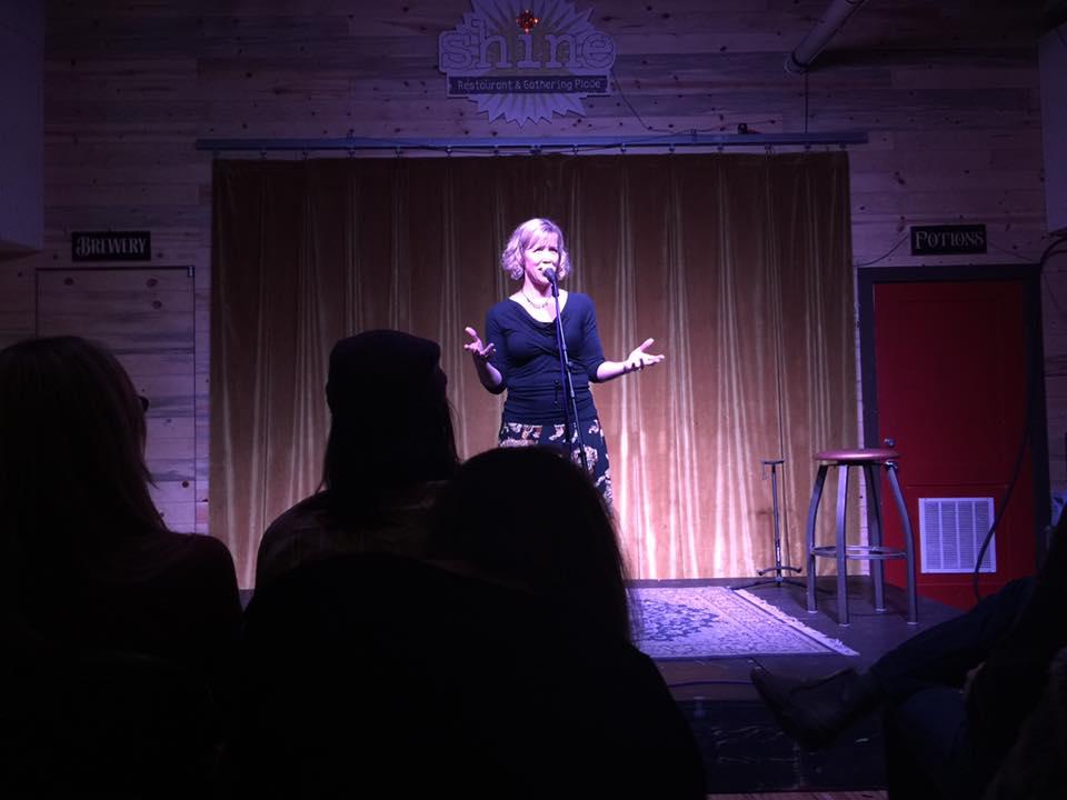 Andrea at Shine Comedy