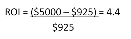 ROI Equation example