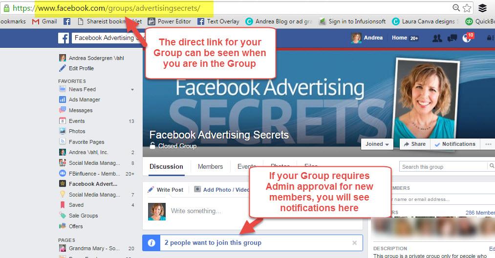 Facebook Group Address