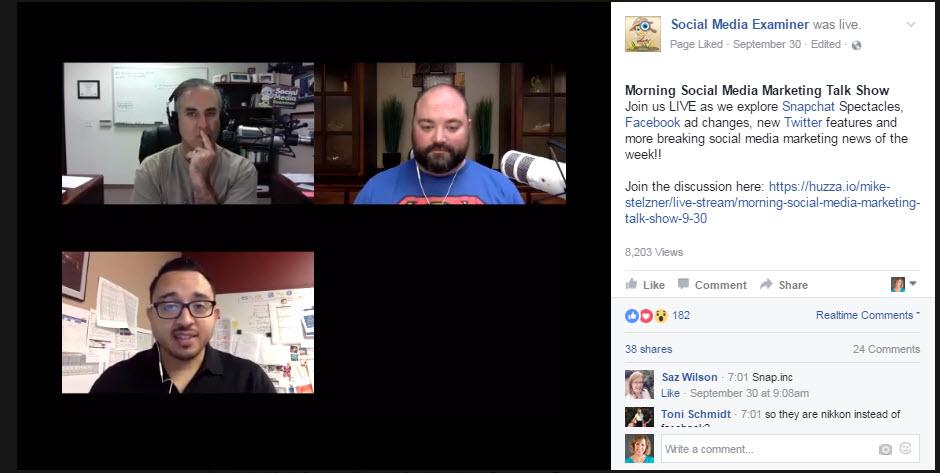 Facebook Live Talk show