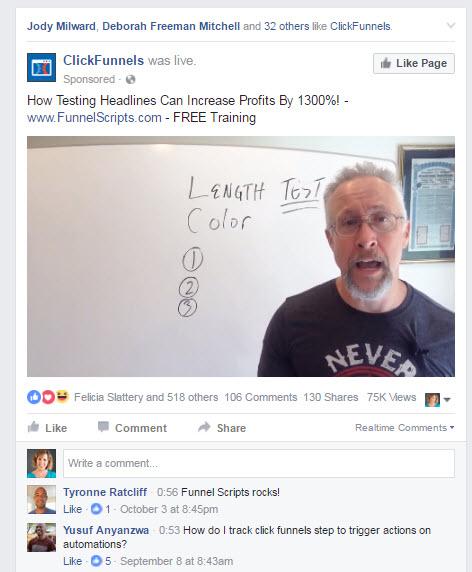 Facebook Live lead generation