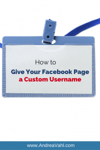 Facebook Page a Custom Username