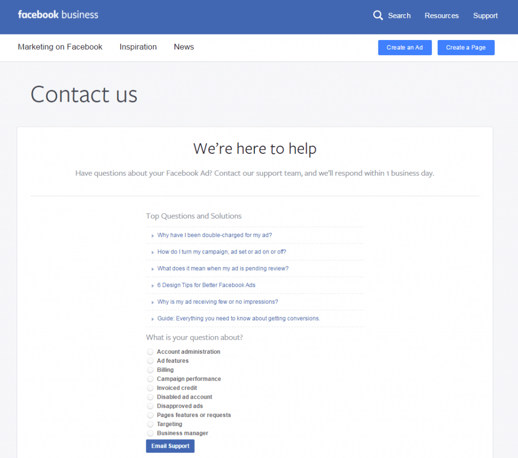 How to Contact Facebook Support for Advertising Help  Andrea Vahl