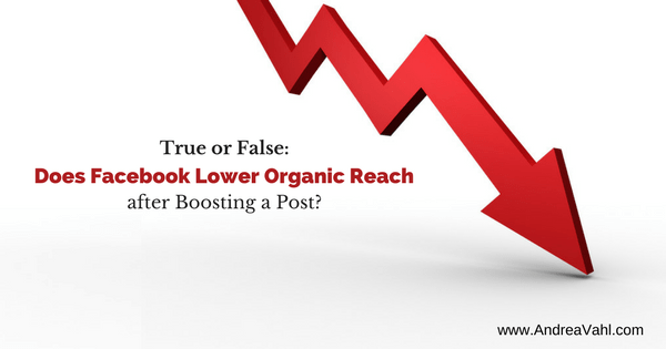 Does Facebook Lower Your Organic Reach after Boosting Posts