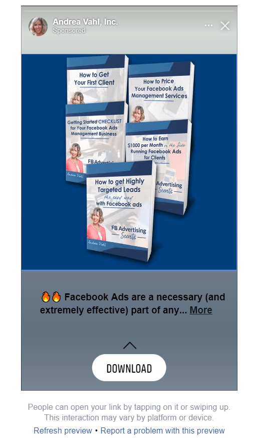 Facebook Story Ads