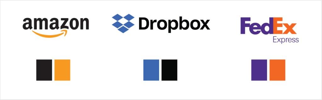 2 color logos
