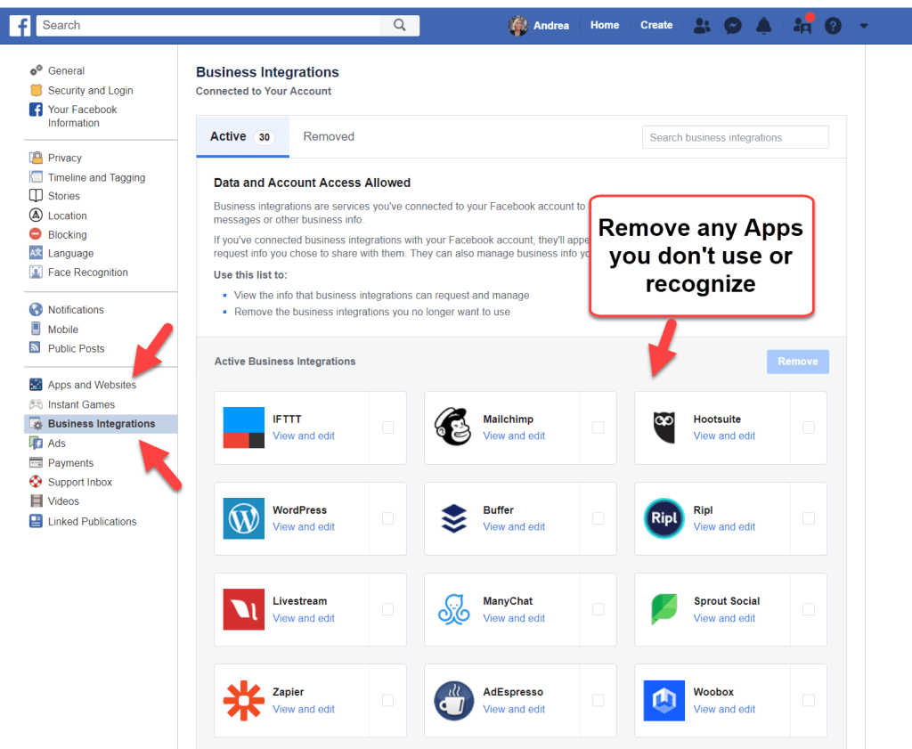 Facebook Business Integrations
