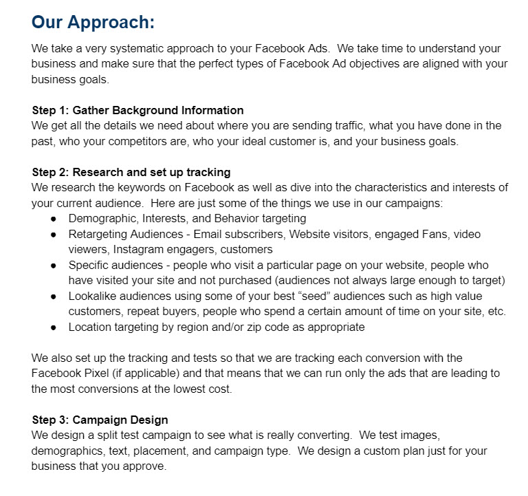 Facebook Ads Proposal