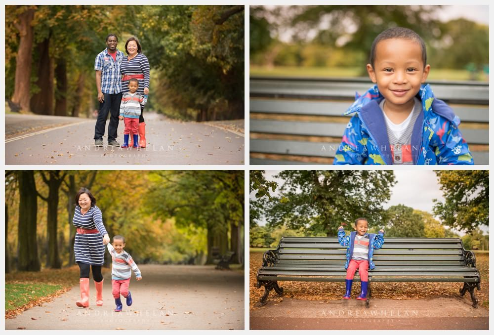 Family photo session in Greenwich Park