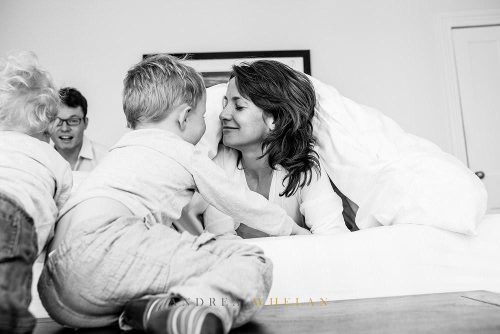 Mother and son fun photos