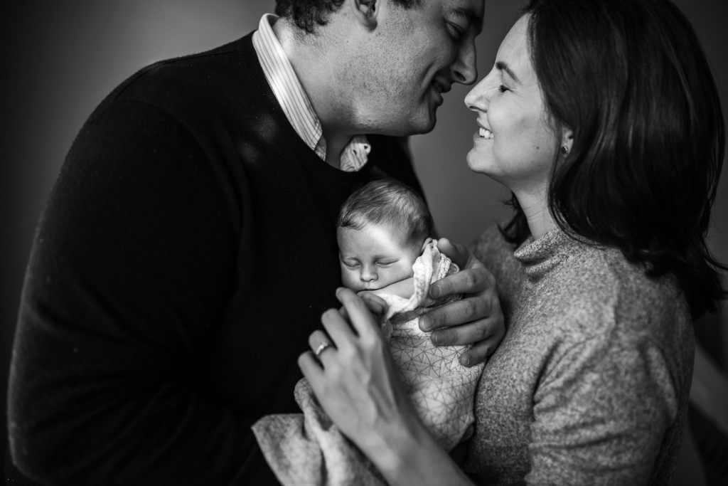 black and white baby photography