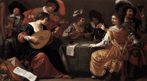 BIJLERT, Jan van Music-making Company c. 1629 Oil on wood, 40 x 69 cm Akademie der bildenden Künste, Vienna, via Web Gallery of Art.