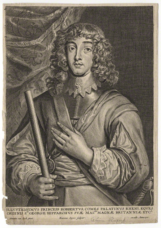 NPG D18151; Prince Rupert, Count Palatine by Hendrik Snyers, after Sir Anthony Van Dyck