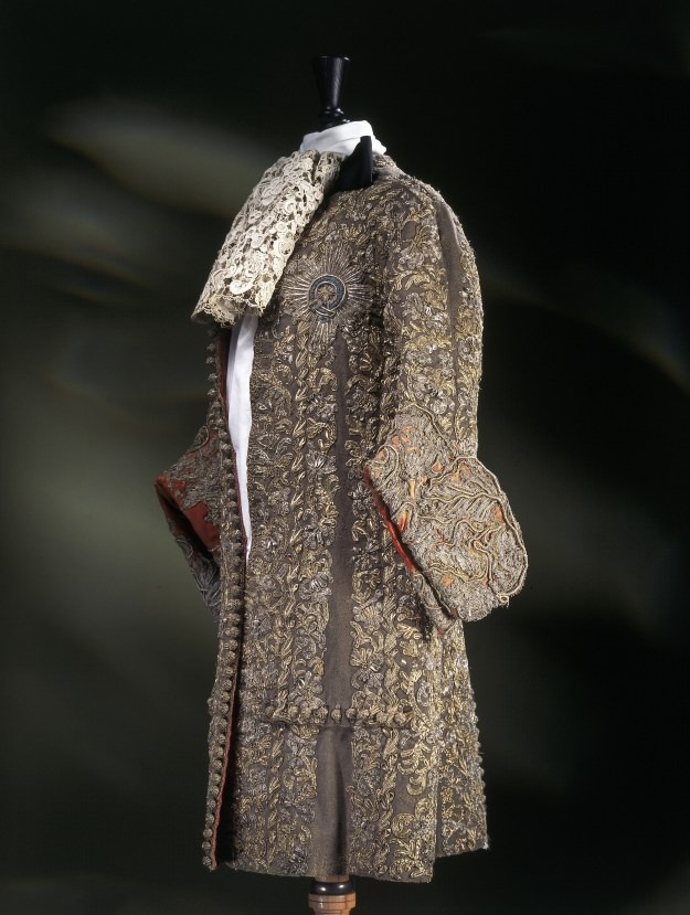 Suit worn by James, Duke of York, at his wedding to Mary of Modena, 1673, © Victoria and Albert Museum, London.