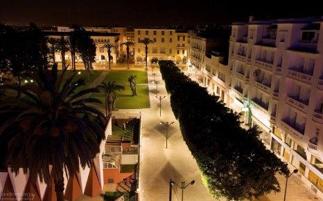 """Вид из номера в гостинице """"Royal Hotel"""" в центре города. Рабат."""