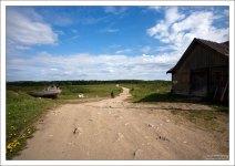 Дорога на другую сторону Большого Соловецкого острова.