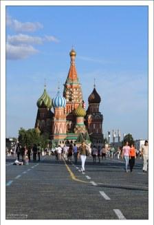 Хорошая погода на Красной площади.