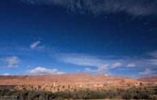 Касба (укрепленная часть города) Ait Baha у подножия Высокого Атласа.