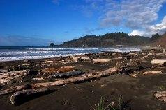 Пляж Hidden beach - часть тропы Coastal trail вдоль побережья Тихого океана.
