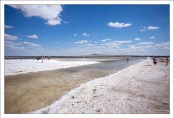 Концентрация соли в озере Баскунчак составляет около 300 г/л.
