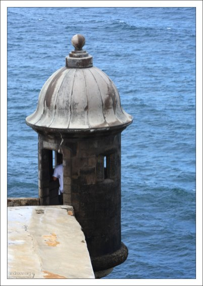 Одна из караульных будок garitas форта El Morro.