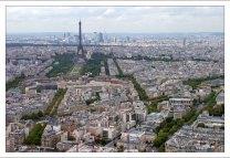 Вид на город с вершины башни Монпарнас.