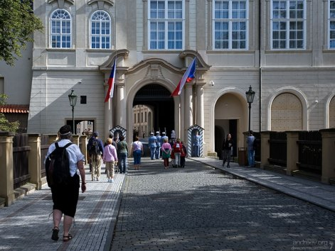 Ворота в Пражский Град.