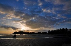Закат на пляже в Самаре.