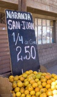 Апельсины - 25 штук за 2 с половиной соля ($1=3 солям).