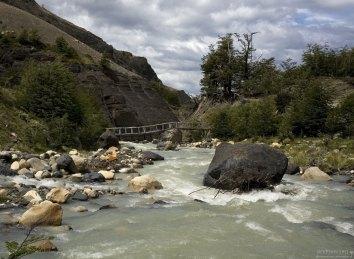 Мост в кемпинг Chileno.