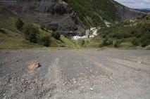 Вид с тропы на реку Ascencio внизу.