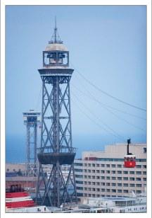 Башни канатной дороги Barcelona Teleferic.