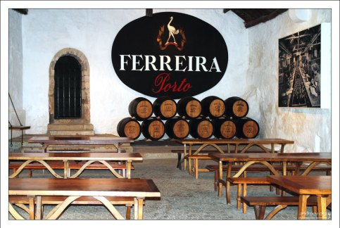 """Дегустационный зал компании """"Ferreira"""". Вила-Нова-де-Гайа."""
