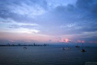 Яхты в Панамском заливе.
