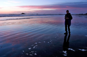 Зеркальный песок на отливе. Crescent City.