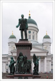 Памятник Александру II как память о восстановлении императором финского парламентаризма.