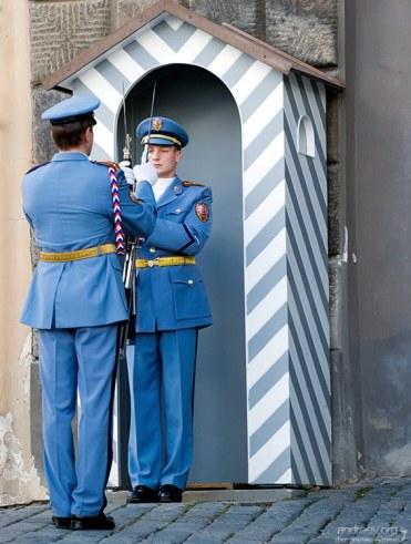 Охраняют Град стражи президентской гвардии, аналог российского Кремлевского полка.