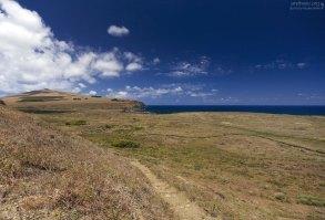 Практически голая сторона острова.