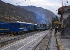 Вокзал в Ollantaytambo.