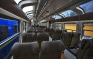 В вагоне поезда VistaDome.