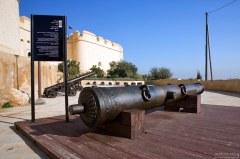 """Старинная бронзовая марокканская пушка (16-й век), по прозвищу """"Sidi Mimoun"""". Крепость Borj Nord. Фес."""