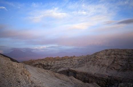 Закат в Долине Луны.