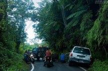 Авария на одной из второстепенных дорог.