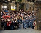 Целая рота гвардейцев. Туристы в экстазе.